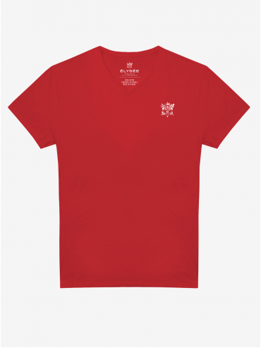 Red embroidered Présidence de la République T-shirt