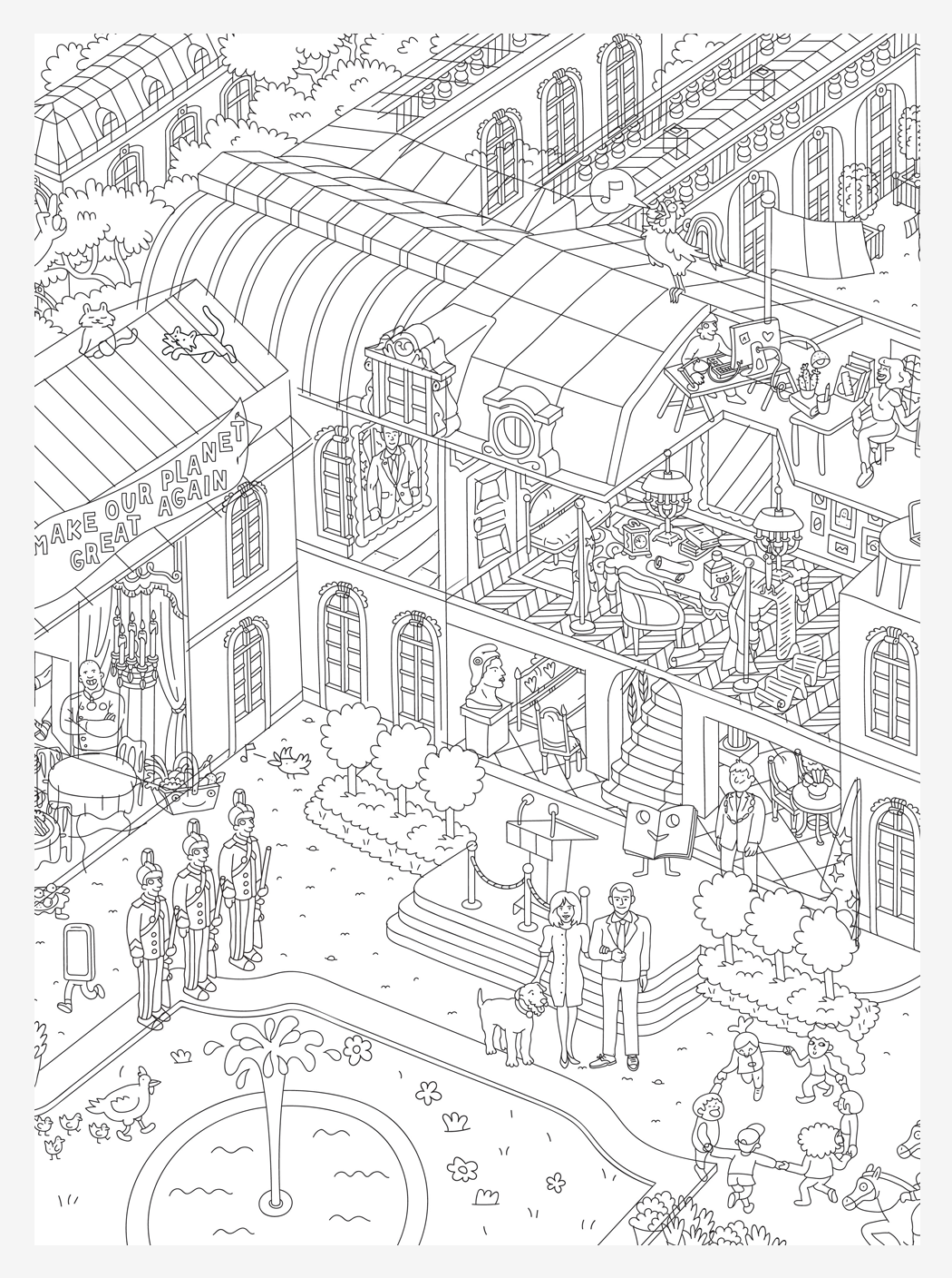 Coloriage Omy.Giant Colour In Palais De L Elysee Poster X Omy Studio