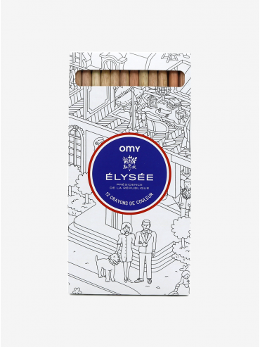 Élysée x OMY Studio pack of 12 colouring pencils