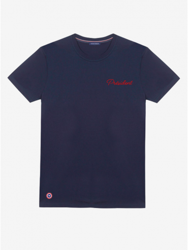 Embroidered 'Président' T-shirt by Le Slip Français