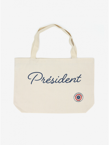 'Président' canvas bag by Le Slip Français