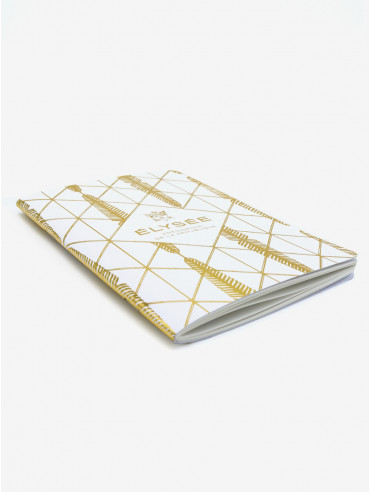 Gold palm leaf Palais de l'Élysée notebook