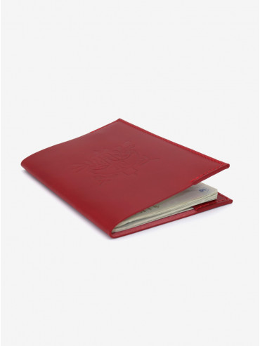 Léon Flam x Présidence de la République red passport holder