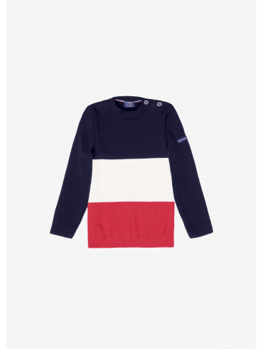 Pull tricolore enfant Saint James x Elysée