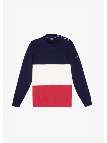 Saint James x Elysée Tricolore Breton jumper