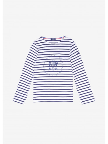Saint James x Elysée printed Breton shirt