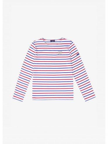 Saint James x Élysée embroidered Tricolore Breton shirt