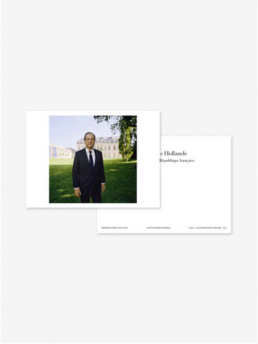 Official postcard - Presidents of the 5th Republic  Presidents-François Hollande