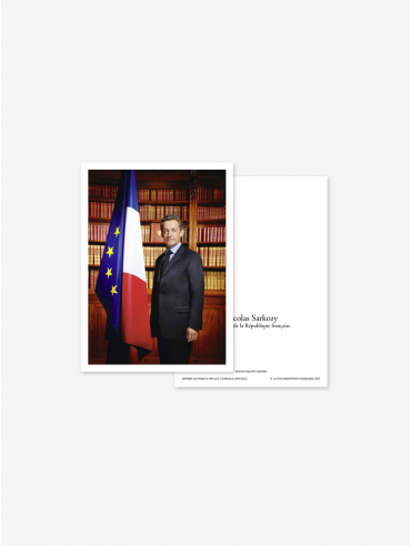 Official postcard - Presidents of the 5th Republic  Presidents-Nicolas Sarkozy