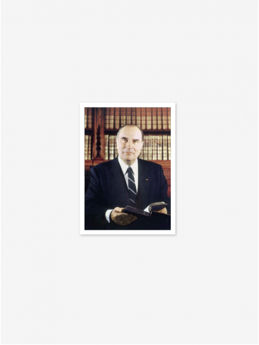 Official postcard - Presidents of the 5th Republic  Presidents-François Mitterrand