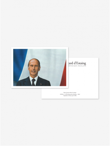 Official postcard - Presidents of the 5th Republic  Presidents-Valéry Giscard d'Estaing