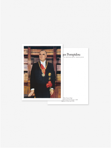 Official postcard - Presidents of the 5th Republic  Presidents-Georges Pompidou