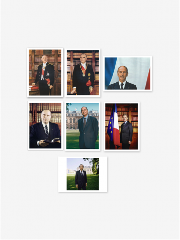 Official postcard - Presidents of the 5th Republic