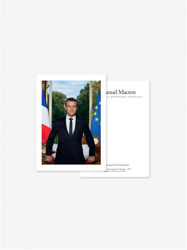 Postcard - Official portrait of the French President Emmanuel Macron