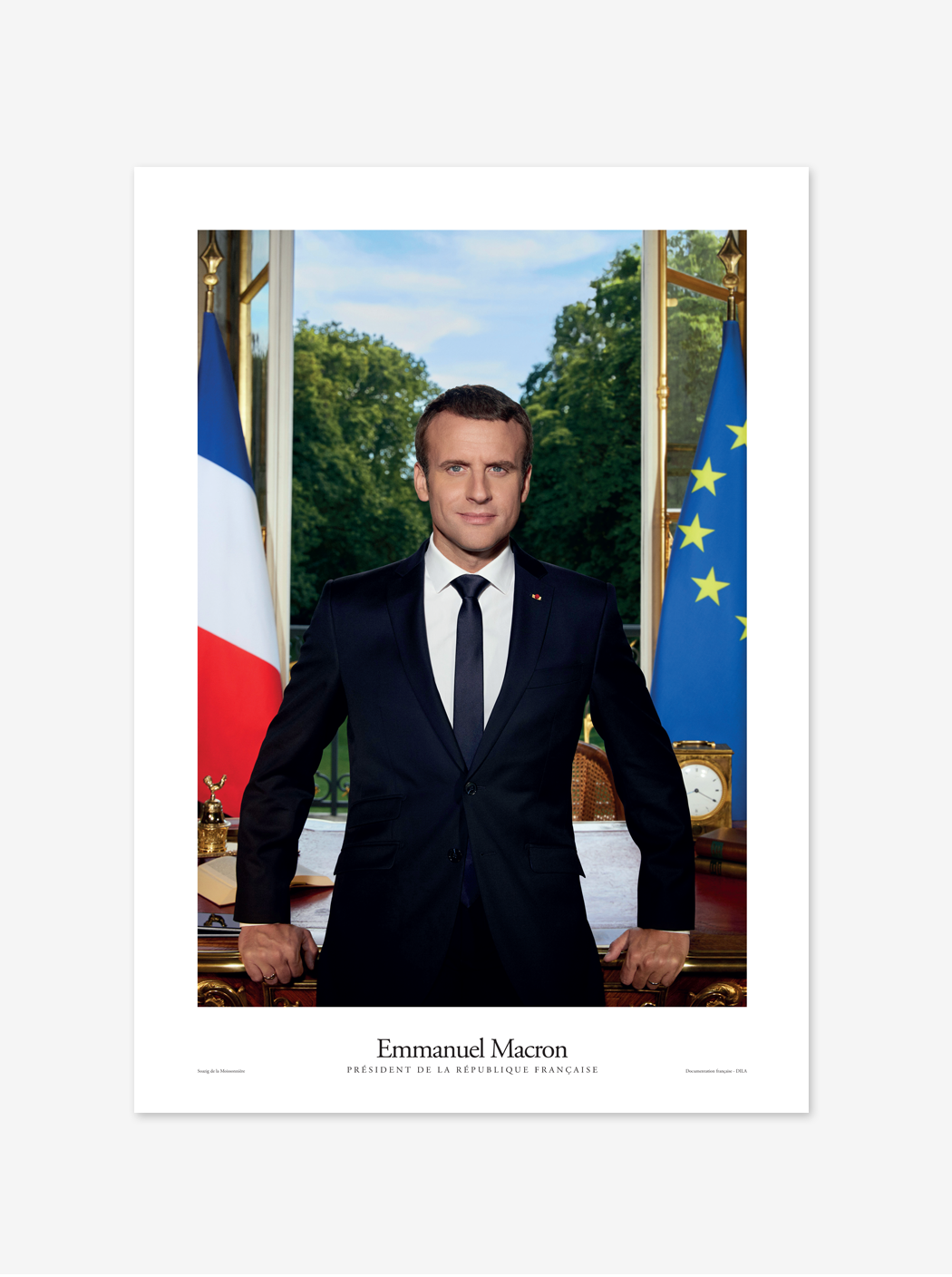 Poster Official Portrait Of The French President Emmanuel Macron