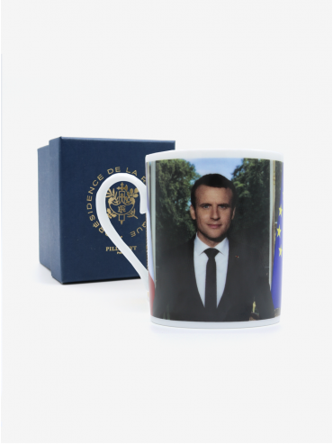Mug - Official portrait of the French President Emmanuel Macron x Pillivuyt