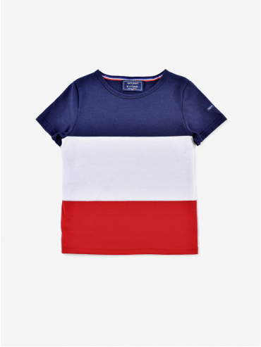 T-shirt Enfant tricolore Saint James x Élysée