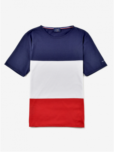 T-shirt tricolore Saint James x Élysée