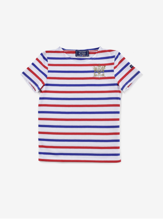 T-shirt Enfant Rayures Tricolores Saint James x Elysée