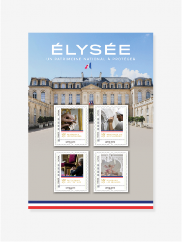Collector 4 Stamps La Poste x Elysee