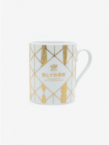 Golden palm leaf mug