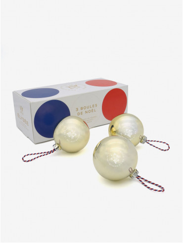 Pack of 3 Élysée Christmas baubles - 2019