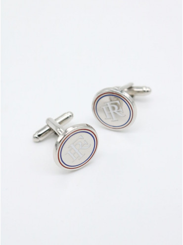 "Silver Cufflinks ""French Republic"""