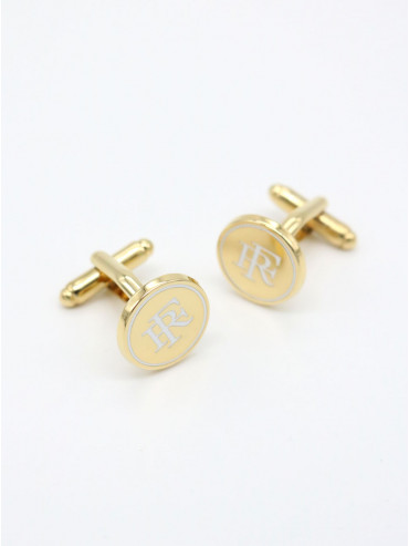 "Gold Cufflinks ""French Republic"""