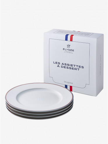 Set of 4 dessert plates - Degrenne X Élysée